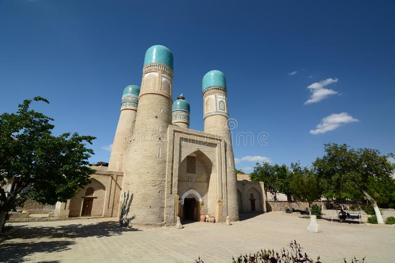 Chor Minor. Bukhara. Uzbekistan. Bukhara is a city in Uzbekistan, located on the ancient Silk Road, rich in historical sites, with about 140 architectural stock photo