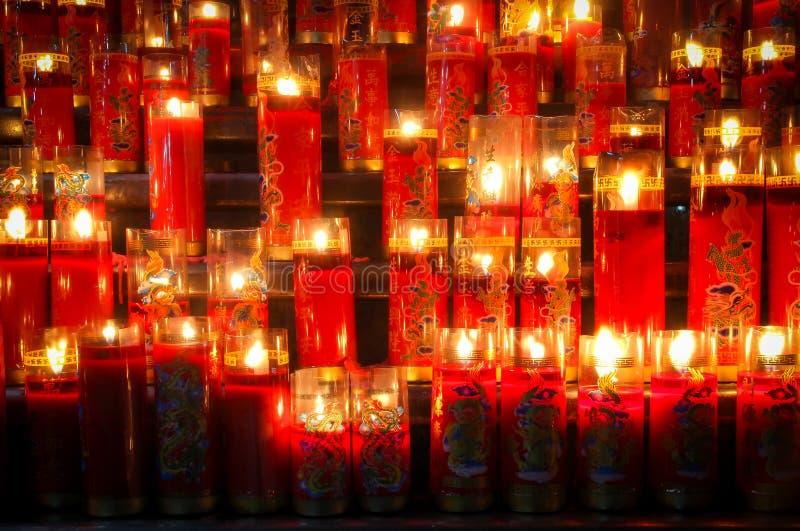 Chor von Kerzen stockbilder