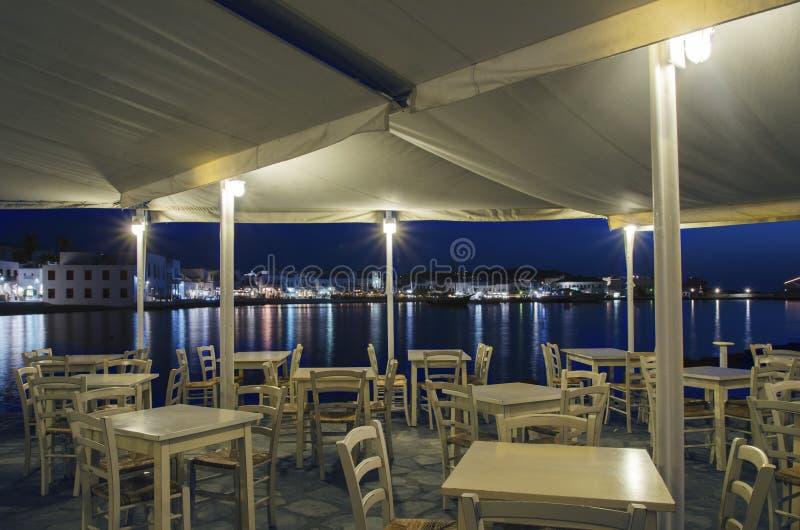 Chora к ноча, Mykonos, Греция стоковое изображение rf