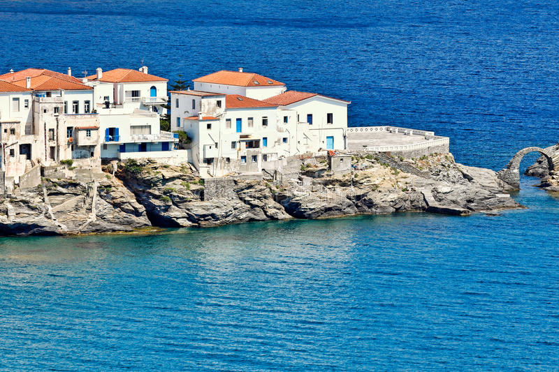 Chora in Andros, Greece. Chora is the capital of Andros, Greece stock photos