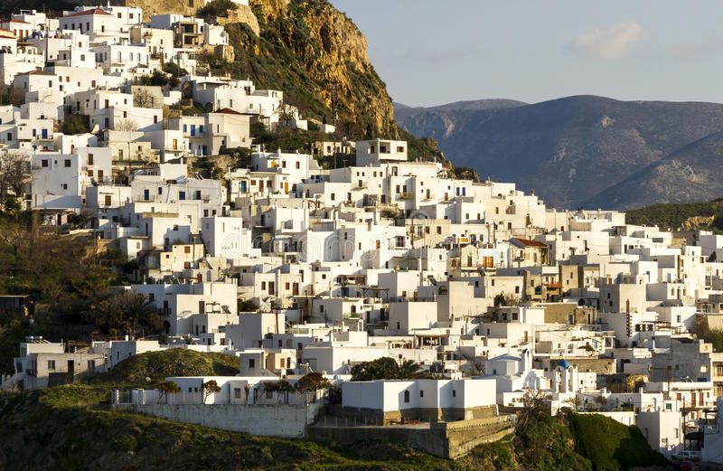 Chora (capital) of Skyros island, northern Aegean, Greece. Chora is the main village and the capital of the small island of Skyros, in northern Aegean sea royalty free stock photography