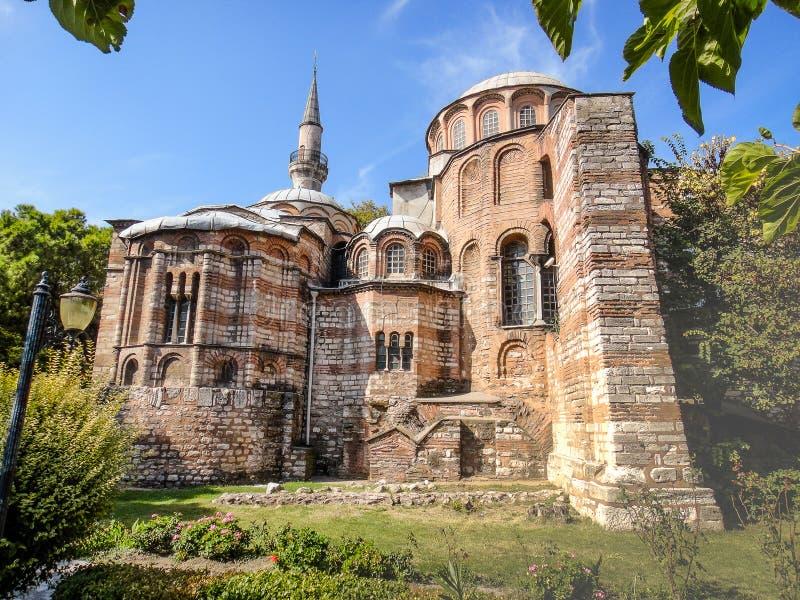 Chora church in Istanbul stock image