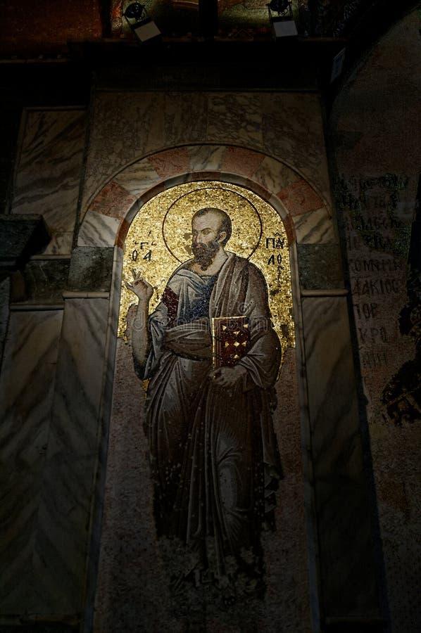 Chora church mosaic stock photography