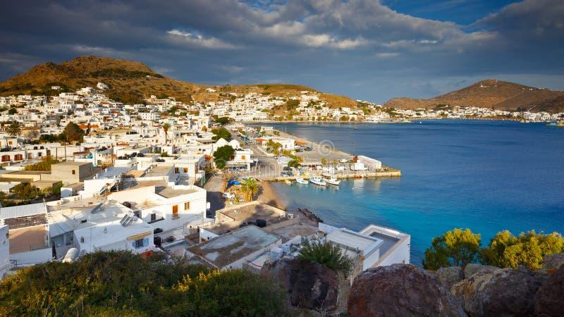 chora Greece dziedzictwa wyspy dodecanese klasztoru ortodoksyjni patmos są umieszczone unesco świat fotografia stock