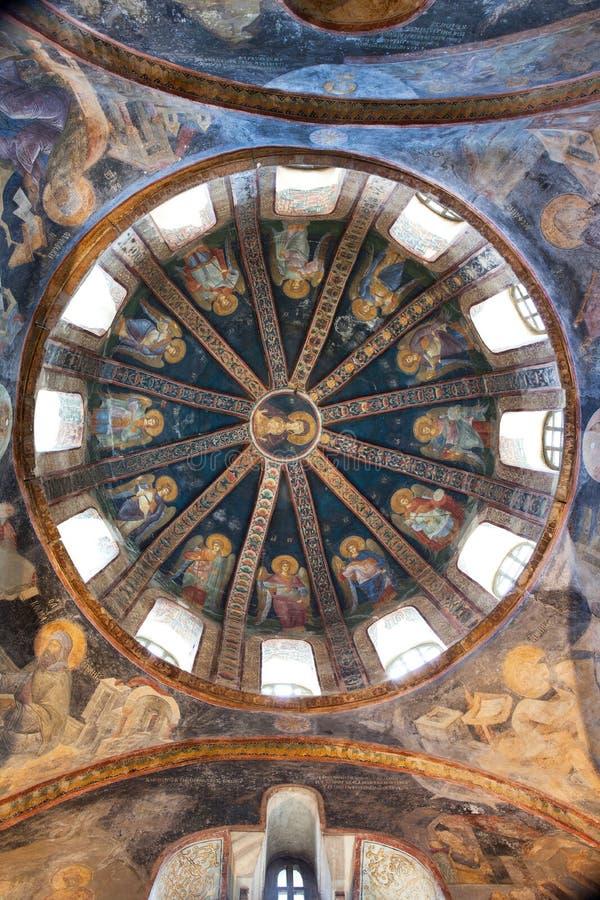 CHORA, igreja de Kariye ou museu, abóbada da construção imagens de stock royalty free