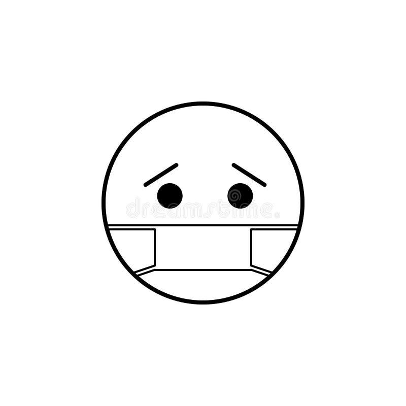 chora ikona Szczegółowy set avatars zawód ikony Premii ilości kreskowy graficzny projekt Jeden inkasowe ikony dla sieci ilustracji