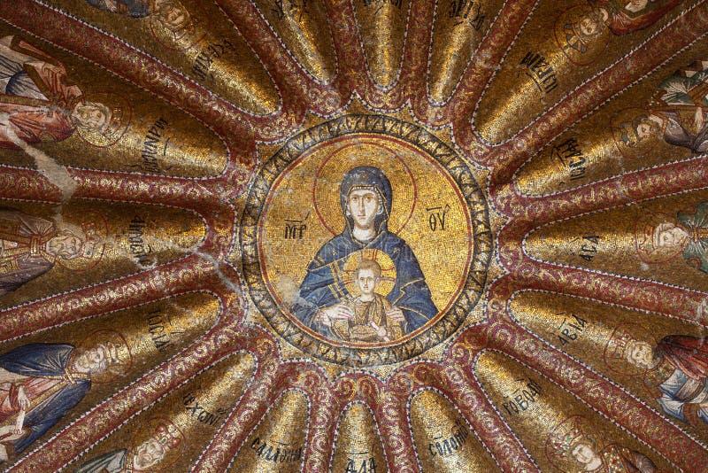 CHORA, Kariye-de Kerk of Museum, het binnenlands van het gebouw zijn inham stock foto