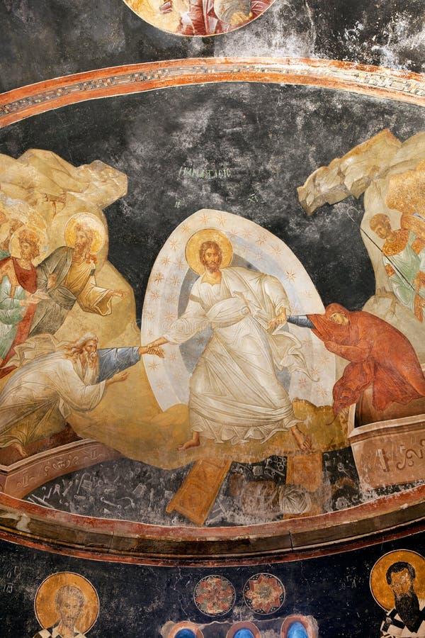 CHORA, Kariye-Kerk of Museum, ISTANBOEL, TURKIJE royalty-vrije stock fotografie