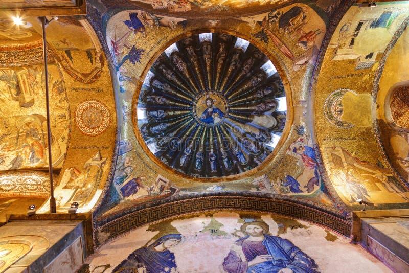 chora kościelny wewnętrzny Istanbul mozaiki indyk zdjęcia stock