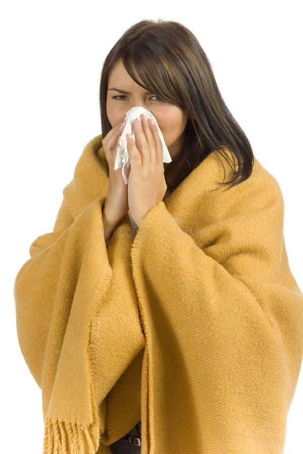 chora kobieta tkanek zdjęcie royalty free