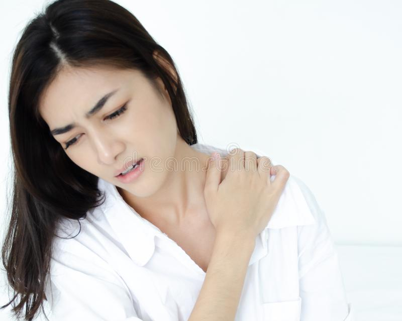 Chora kobieta z bólem obrazy stock