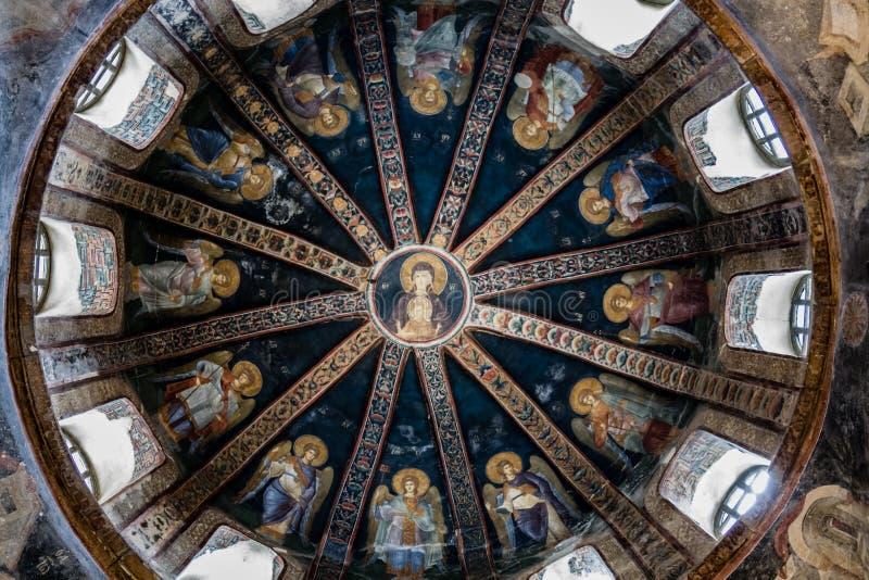 Chora kyrka i Istanbul, Turkiet royaltyfri bild