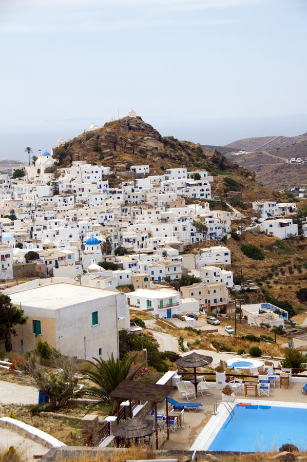 Chora Landscape View Aegean Ios Cyclades Royalty Free Stock Photography