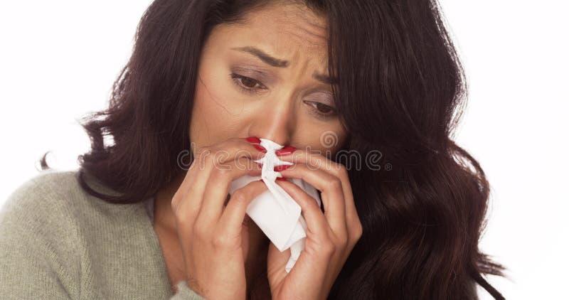 Chora Meksykańska kobieta zdjęcia stock
