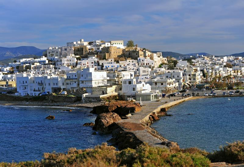 Chora old town, Naxos island, Greece. Chora old town on Naxos island, Greece royalty free stock image