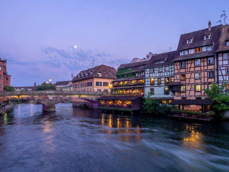 Chora rzeka w Małym Francja, Strasburg fotografia royalty free