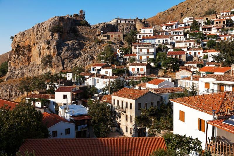 Chora Samothrace. Village of 'Chora' at Samothrace island in Greece royalty free stock images