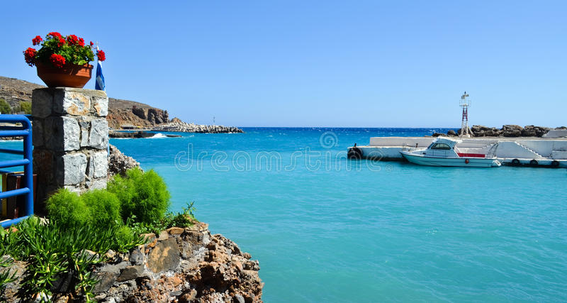 Chora Sfakion royalty free stock images