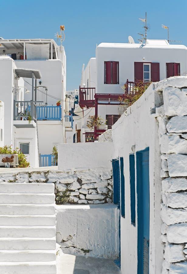 Chora van Mykonos Griekenland royalty-vrije stock fotografie