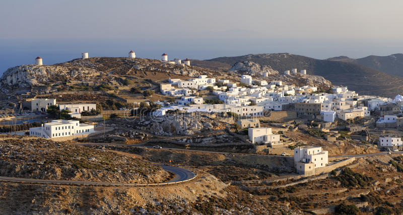 Chora village on Amorgos island. Scenic view of Chora village on Amorgos island, Greece royalty free stock photos