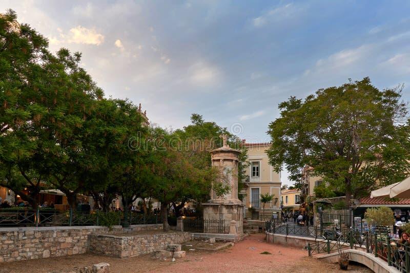 Choragic Monument von Lysicrates in Athen lizenzfreies stockbild