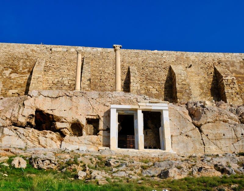 Choragic zabytek Thrasyllus, akropol, Ateny, Grecja fotografia stock