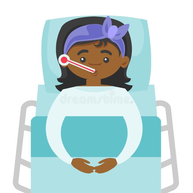 Chorej afroamerykańskiej kobiety pomiarowa temperatura ilustracja wektor