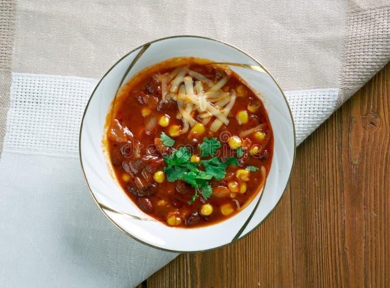 Chorizo estupendo Chili Bowls imágenes de archivo libres de regalías