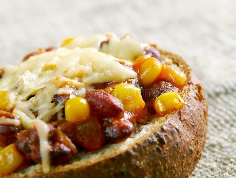 Chorizo estupendo Chili Bowls imagen de archivo