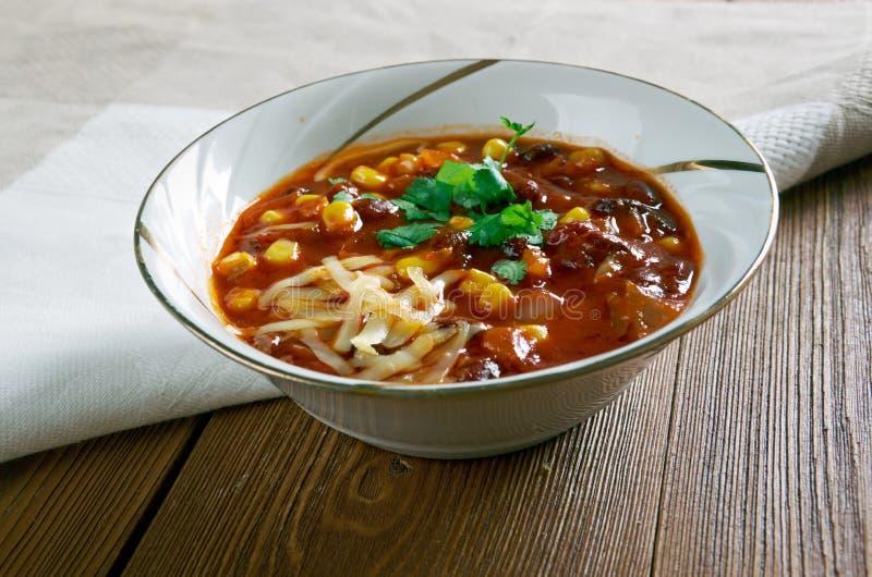 Chorizo estupendo Chili Bowls fotos de archivo libres de regalías