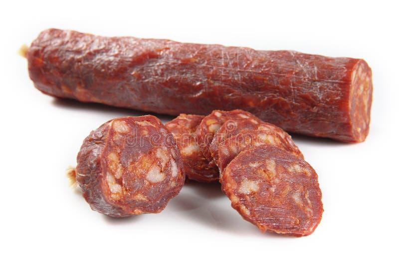 Chorizo ibérico fotos de archivo