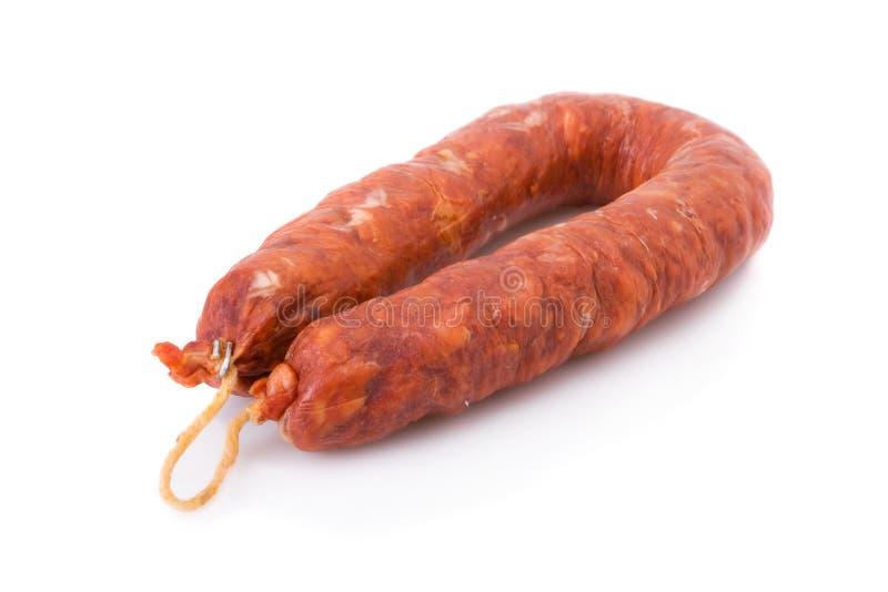Chorizo ibérico, de Barracos foto de stock royalty free