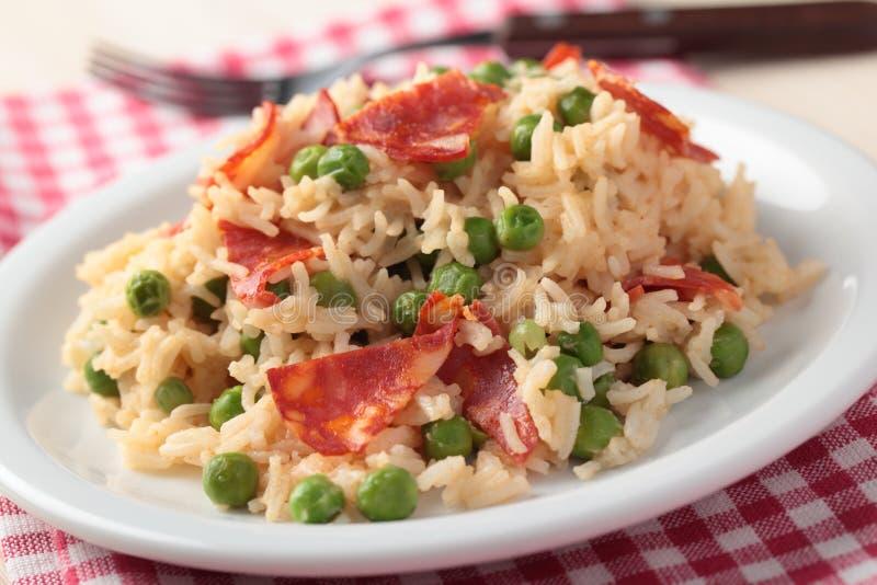 Chorizo with rice stock photos