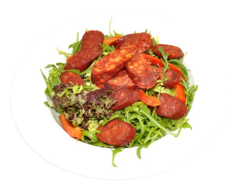 Chorizo-Salat stockfotos