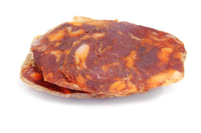 Chorizo spagnolo fotografie stock