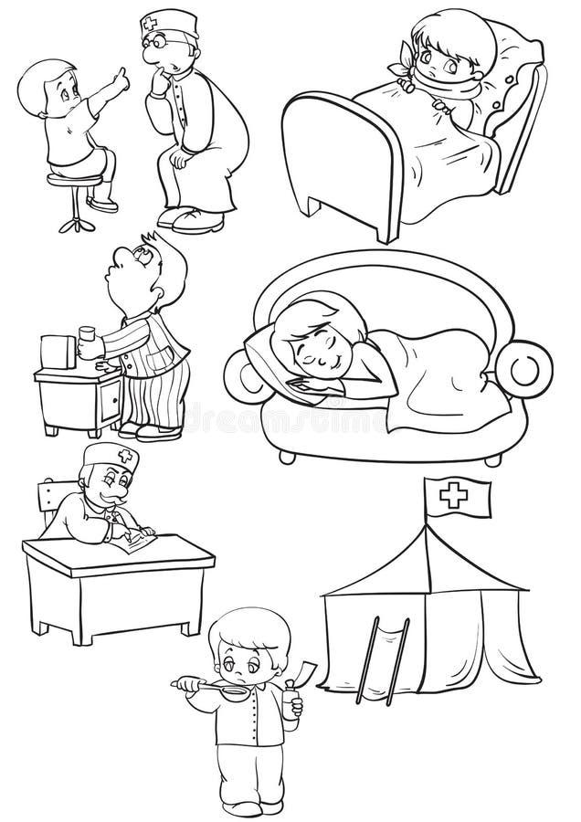 choroba royalty ilustracja