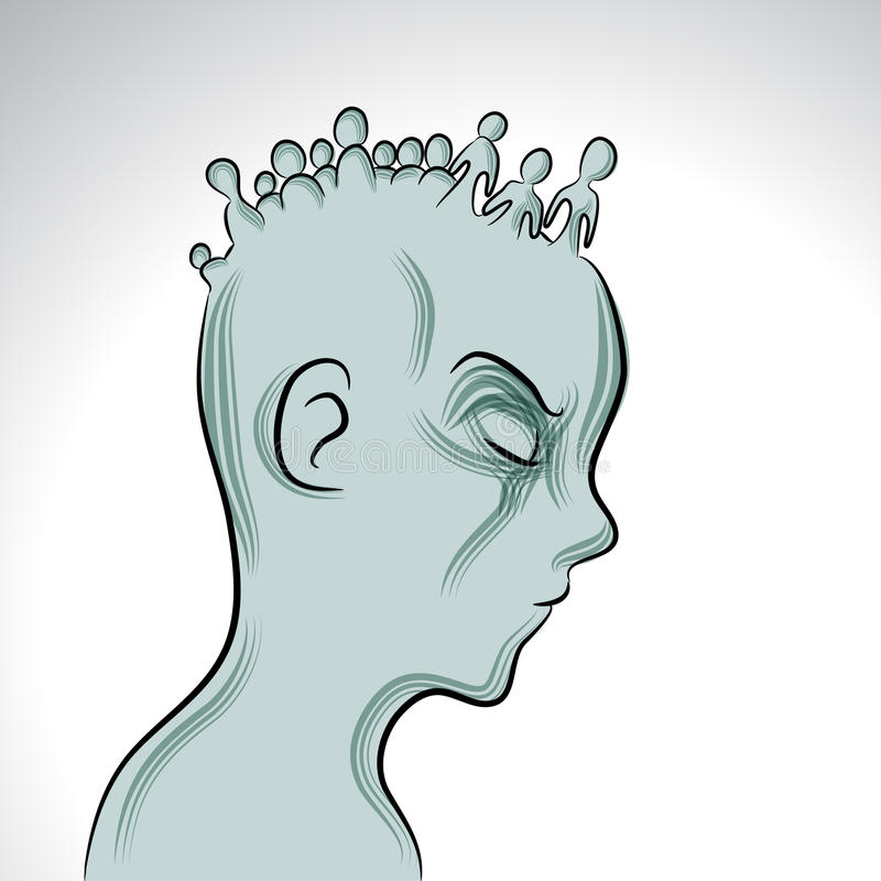 Choroba Psychiczna ilustracja wektor