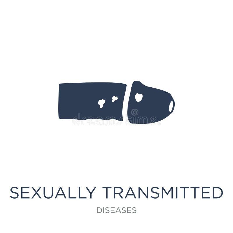 Choroby Przenoszonej Drogą Płciową ikona Modny płaski wektor Seksualnie royalty ilustracja