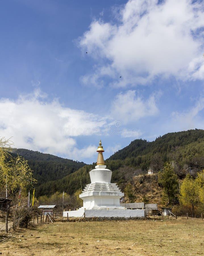 Chorten σε Bumthang, Μπουτάν στοκ εικόνα