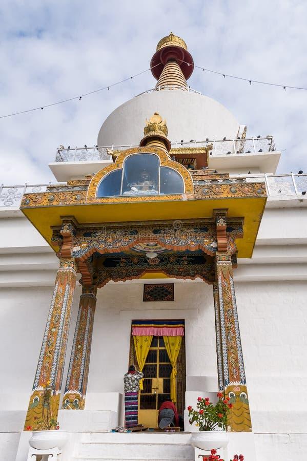 Chorten commémoratif national au Bhutan photos stock
