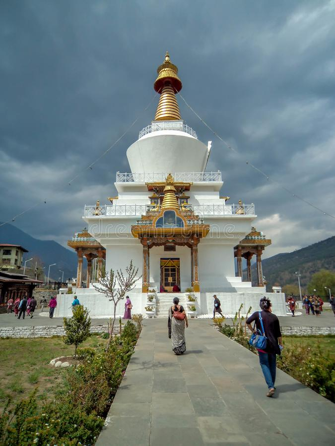 Chorten commémoratif national, Thimpu, Bhutan image stock