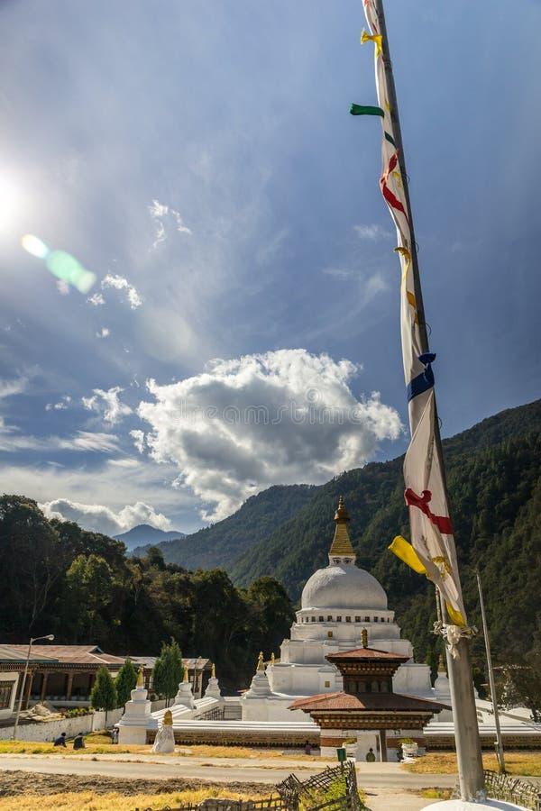 Chorten Kora в Trashiyangtse, восточном Бутане стоковые изображения