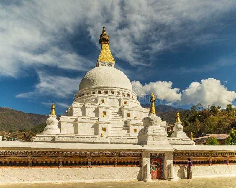 Chorten Kora, Trashiyangtse, восточный Бутан стоковая фотография rf