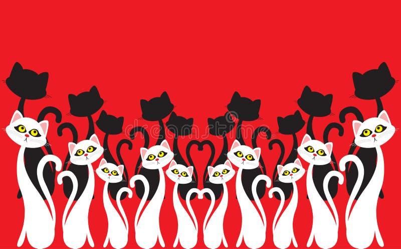 Chorus. White chorus. Cat chorus. Illustration stock illustration
