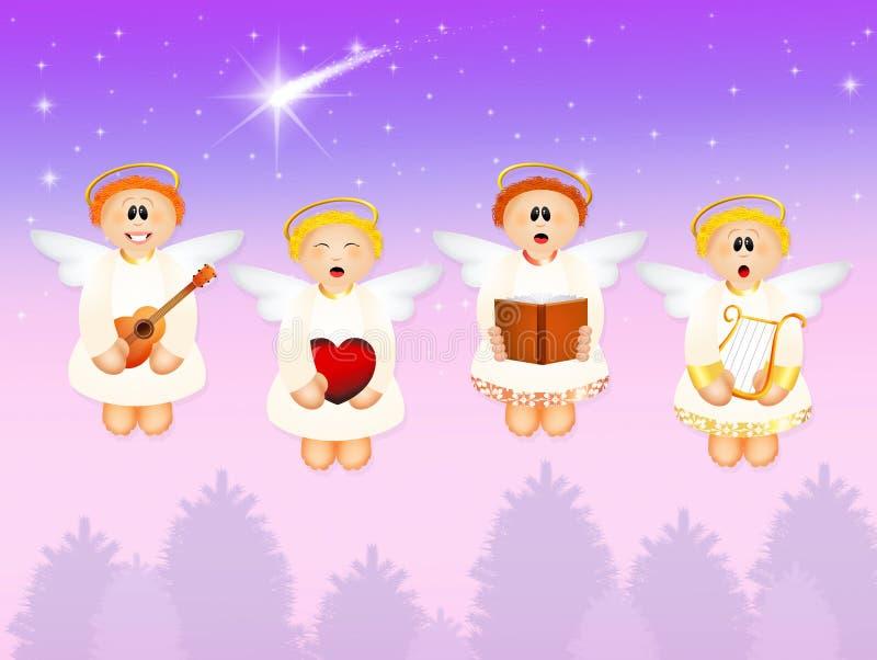 Chorus of angels. Illustration of chorus of angels royalty free illustration