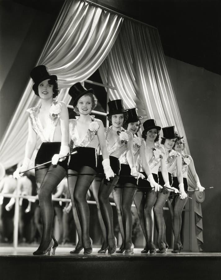Chorus line stock photography