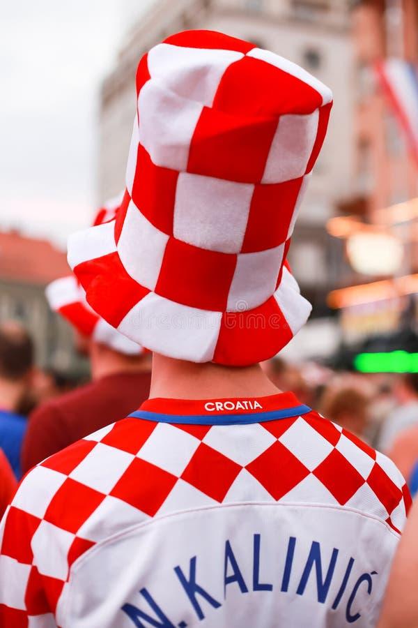 Chorwaccy fan piłki nożnej zdjęcie stock