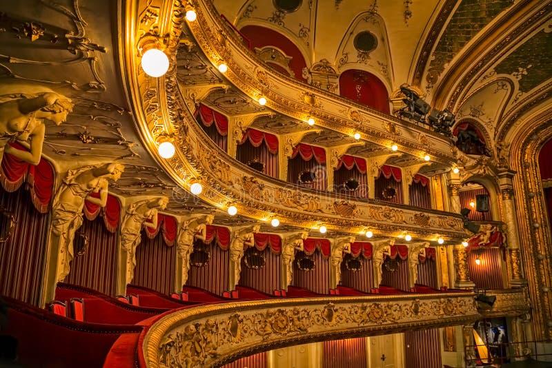 Chorwaccy teatrów narodowych balkony fotografia royalty free