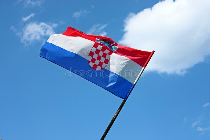 chorwaci flagę obraz royalty free