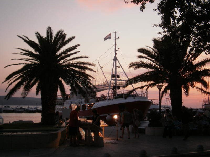 Chorwacja, Baska voda - fotografia stock